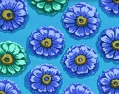 FQ - Kaffe Fassett Fabric - 100% Cotton Quilt Fabric - Zinnia Blue