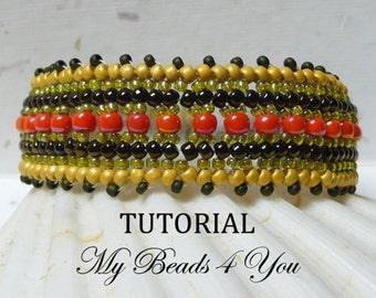 PDF Beading Tutorial, Herringbone Tutorial, PDF Beadwoven Bracelet Pattern, Beading Instructions, Beadwoven, Seed Bead Pattern, Herringbone