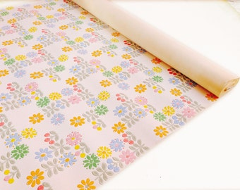 Vintage wallpaper roll, floral pattern fantastic for kids room