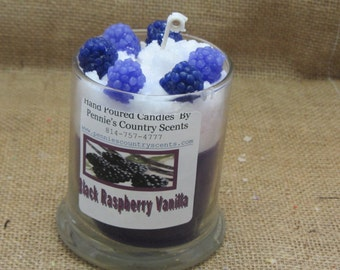 Black Raspberry Vanilla jar Candles