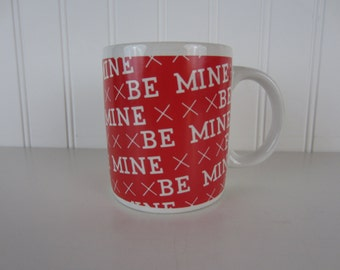 BE MINE! 1986 Houston Foods ~ Vintage Coffee Mug / Coffee Cup ~ For that special someone in your life!