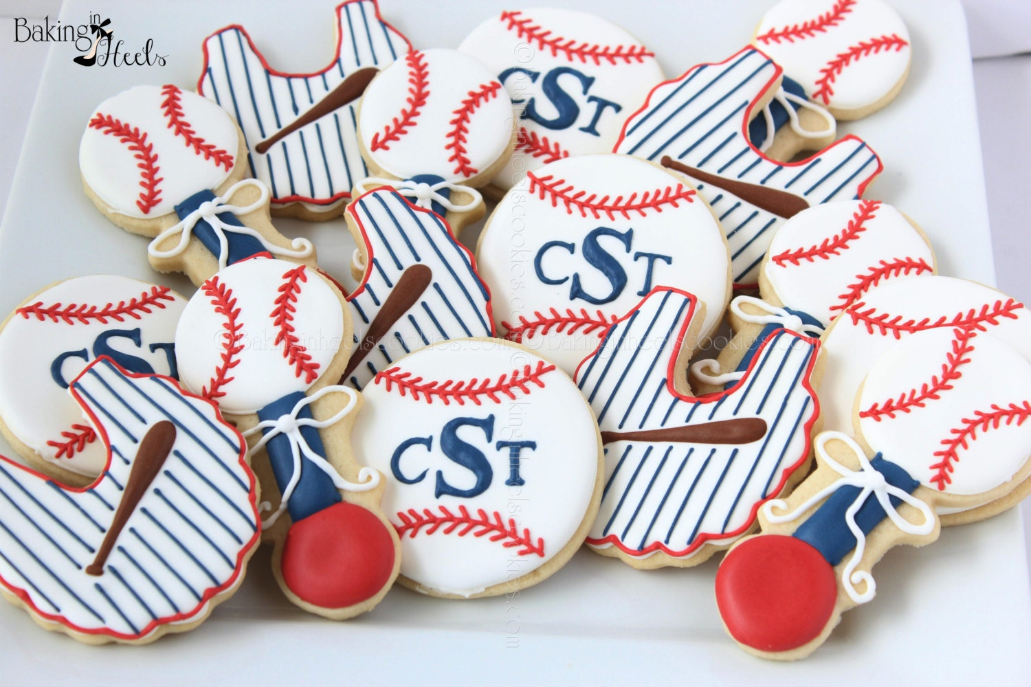 baseball themed baby shower decorated sugar cookies it 39 s