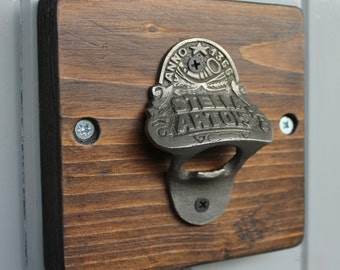 Reclaimed Wooden Beer Bottle Opener
