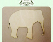 Elephant - (Small) Wood Cut Out -  Laser Cut