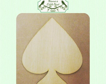 Cards / Poker / Suit of Spades Wood Cut Out - Laser Cut