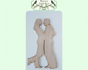 Couple In Love / Embracing  Wood Cut Out - Laser Cut