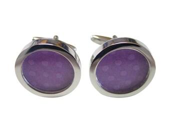Polka Dot Purple Colored Classic Cufflinks
