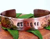 Personalized copper cuff for men