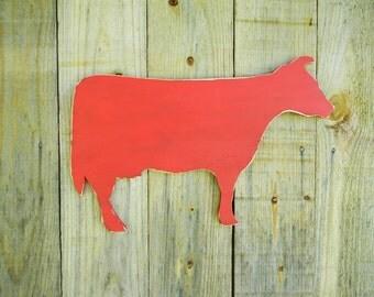 Wooden Cow Sign Rustic Country Decor Farmhouse Nursery Decor