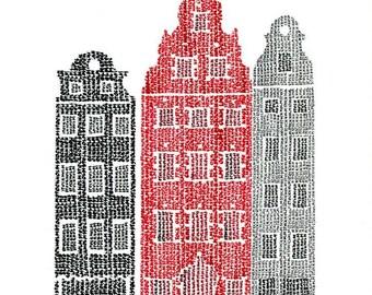 Stockholm Typographic Art Print / handwritten