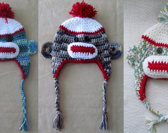 Sock monkeys on the loose hats