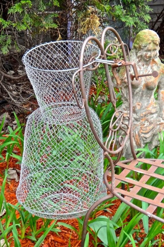 Fishing net wire mesh net fisherman 39 s basket by casakarmadecor for Fish wire basket