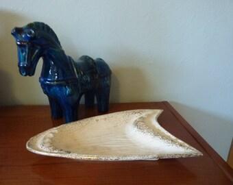 Large Mid Century Boomerang Ashtray - California Originals Pottery