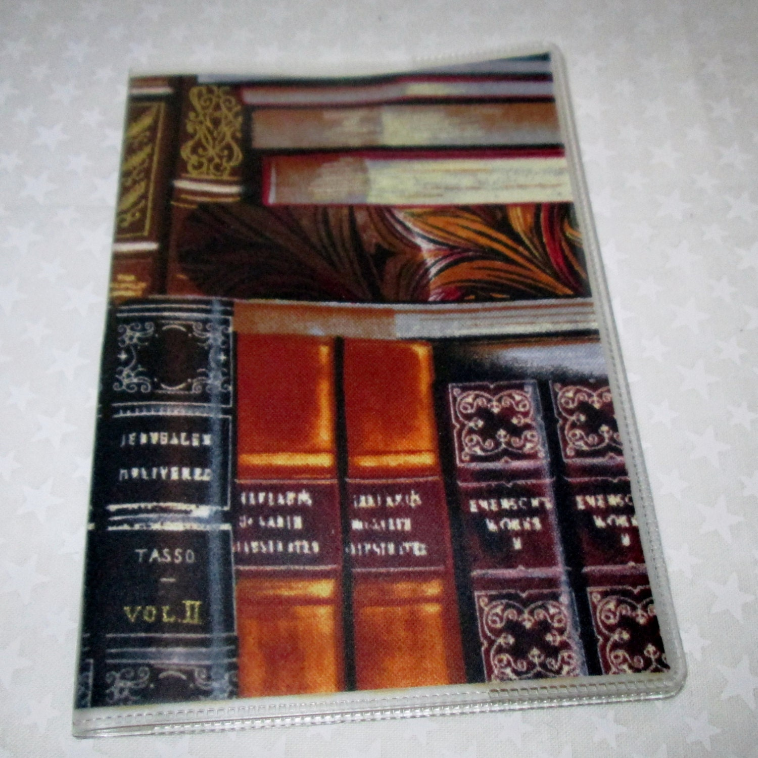 Vinyl Book Cover Material : Passport cover library books fabric vinyl travel accessory