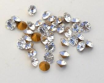 36 Crystal 19ss Swarovski Rhinestones-Loose Rhinestones-Bulk Rhinestones-Wholesale Rhinestones-Loose Crystals