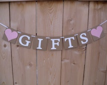 GIFTS BANNER - Wedding Banner - Reception Banner -  Banner for Parties, Graduations, and Showers - Personalize with your colors