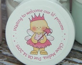 Baby Shower Favors - Personalized Whipped Body Butter (Our Princess - Design #2)