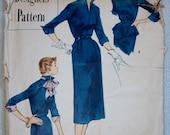 "1950's Simplicity Designer One-Piece Dress and Peplum pattern - Bust 32"" - No. 8293"