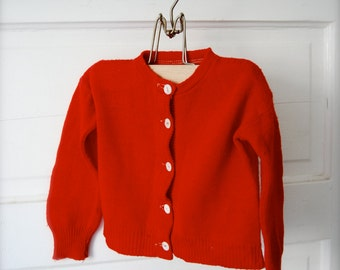 Vintage Home Spun Country Baby Sweater