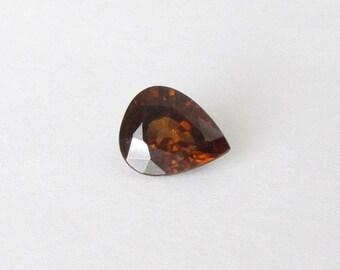 Natural Honey Golden Zircon, Unheated, Pear Cut, 2.47 carats