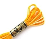 DMC 90 Variegated 6 Strand Floss Yellow Shaded Ombre