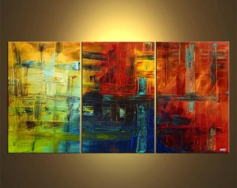 """Modern Original Acrylic Painting, Acrylic Abstract by Osnat - MADE-TO-ORDER - 72""""x36"""""""