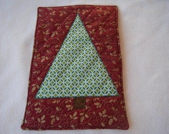 Green Christmas Tree Quilted Hot Pad/Trivet - All HANDMADE BY ME