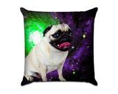 Outer Space PUG - Original Graphic Sofa Throw Pillow