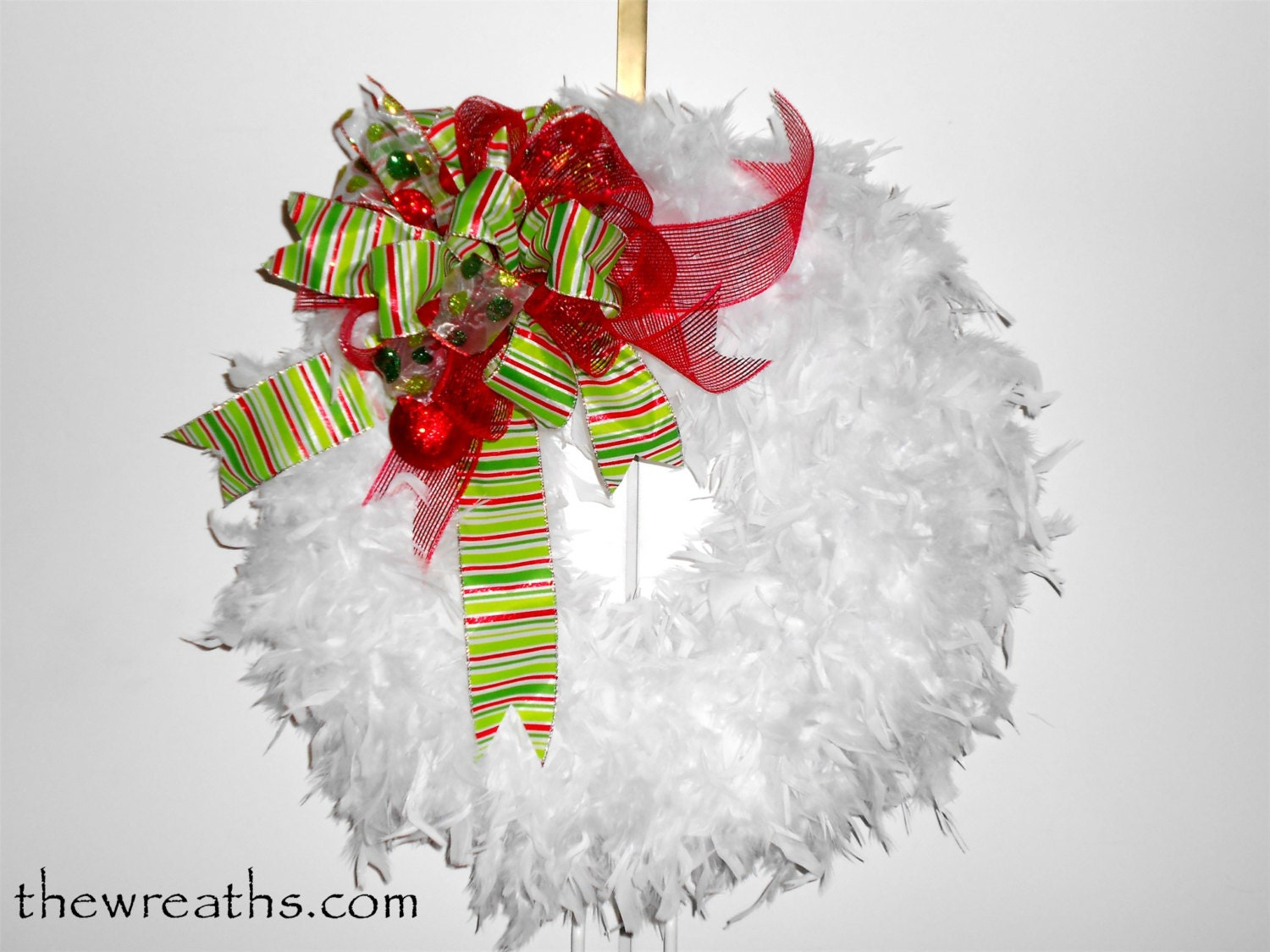 White Christmas Wreath Christmas Wreath White by thewreaths