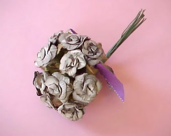 Pretty Paper Flowers Millinery Bouquet in Pretty Shades of Grey