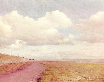seaside photo print - whimsical fine art photography, landscape, textured photograph, seaside, vintage photo