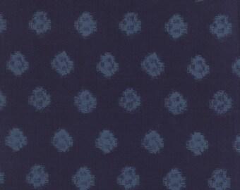 Indigo Geometic Ikat  Denim 32902 15 by Moda