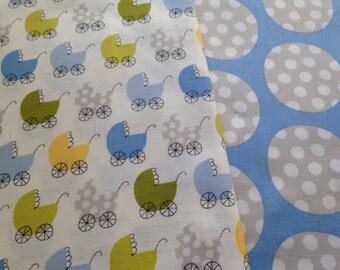 Fabric TWO YARDS baby boy fabric duo precious by windham fabrics stroller