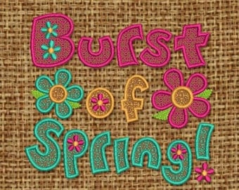 INSTANT DOWNLOAD Burst of Spring Embroidery Digital  Designs SP001