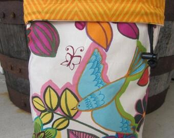 Folklorico Birds - Knitting Project Bag - Phat Fiber