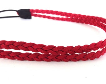 Double Strand Red Braided Rope Headband