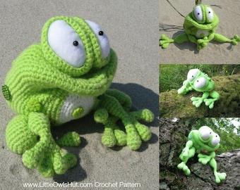 013 Frog Kvolya toy with wire frame - Amigurumi Crochet Pattern - PDF file by Pertseva Etsy