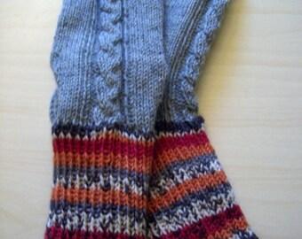 GENEROUSLY sized Wool / boot socks Men women boy girl Big size Warm durable cosy socks Handknitted Christmas Gift idea Handmade in FINLAND