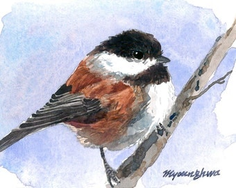 ACEO Limited Edition 2/25-  A little chickadee