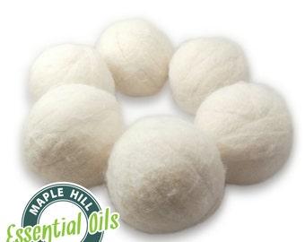 6 Essential Oil Scented Wool Dryer Balls