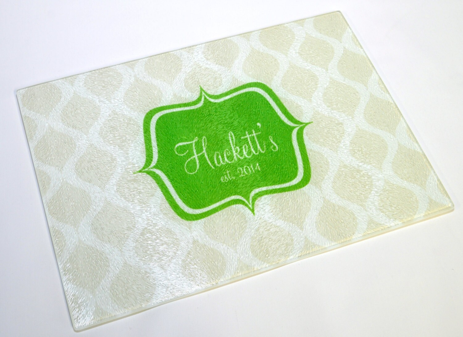 Personalized cutting board trellis customized tempered - Tempered glass cutting board personalized ...