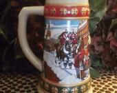 Hometown Holiday Budweiser Stein 1993 Anheuser Busch Beer Mug