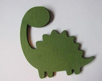 10 Dinosaur die cuts, Dino embellishments, Dinosaur gift tags