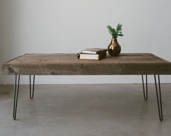 Reclaimed Wood Coffee Table or Desk - The Inaugural Collection