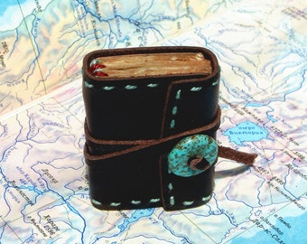 Mini Leather Book Journal for Dollhause - TOFFY BOOK - 3x4 cm
