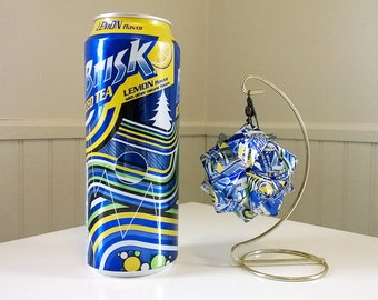 Lipton Brisk Iced Tea w/ Lemon Origami.  Upcycled Recycled Repurposed Art.