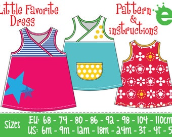 Little Favorite Dress // PDF pattern and sewing instructions // Girls: 6M-size 5