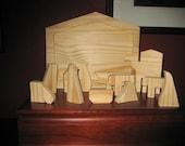 Manger Puzzle, Nativity Puzzle Hand cut wood puzzle- new larger size