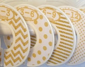 Custom Baby Closet Dividers Clothes Organizers Gold and White with Dots Chevrons CD002 Baby Girl Boy Shower Gift Nursery Decor