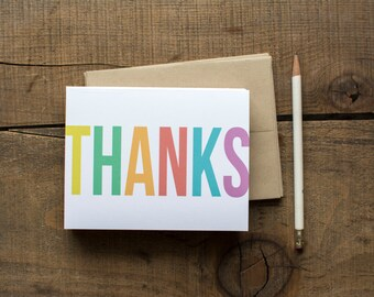 Bold Brights Thank You Cards - Set of 8